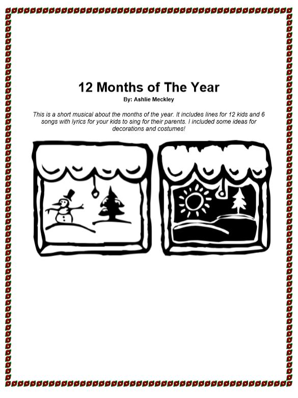 12 Months of The Year Musical